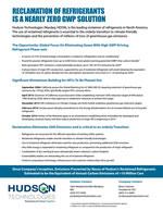 refrigerant recycling, refrigerant reuse, refrigerant GWP, refrigerant HFC, refrigerant reduce emissions